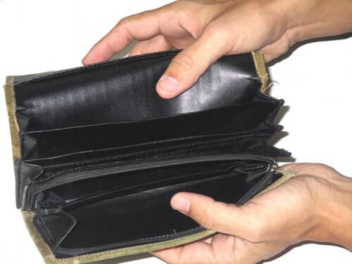 空っぽのお財布